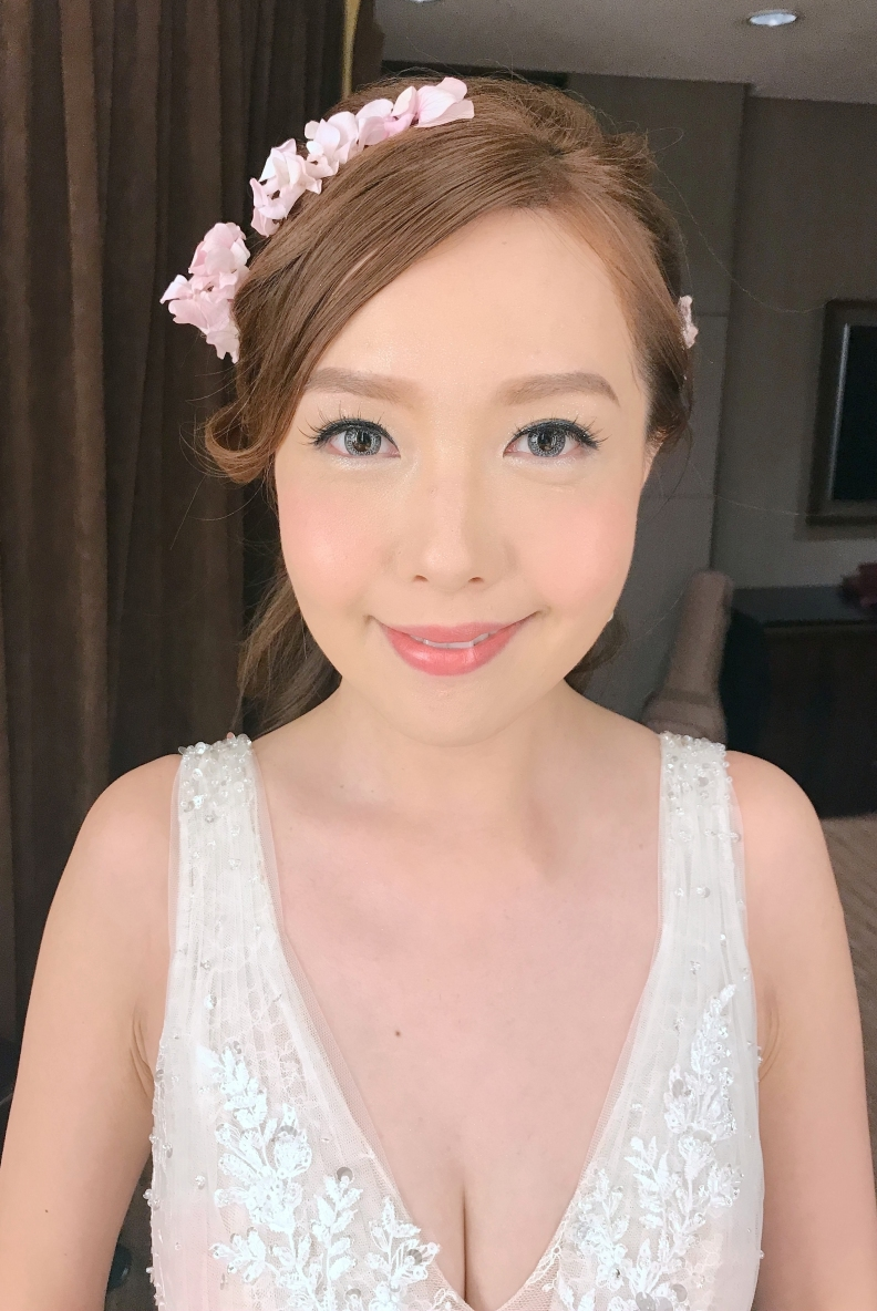 新妝化妝師 wedding bridal makeup hair hk _ching1a